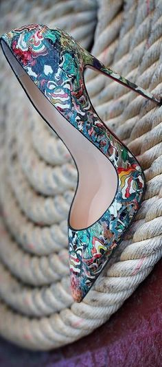 Christian Louboutin Women's Shoes - http://amzn.to/2j5cIw2 Very unique! So colourful! ♡
