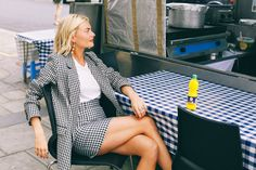 Pandora Sykes proves you can wear a skirt suit and avoid looking super corporate.