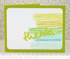 Can't Thank You Enough Card by Nichole Heady for Papertrey Ink (June 2014)