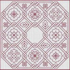 blackwork embroidery pattern heart - Yahoo Image Search Results