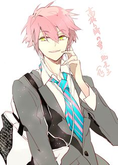 Anime boy with earphones in. By Suou (Mangaka).