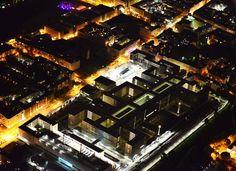 Nachts ueber Berlin BND Zentrale in der Chausseestrasse