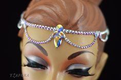 Swarovski ballroom jewelry headband. More available at Tzafora.com