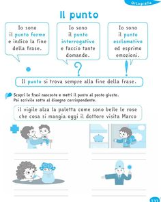 from Il Filo delle idee - Italian Words, English Writing Skills, Italian Language, Learning Italian, Elementary Schools, Back To School, Coding, Italy, Vacation