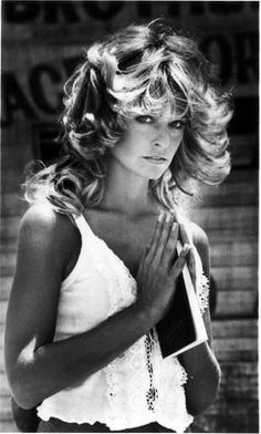 Farrah Fawcett. Her public fight against her cancer was inspirational .