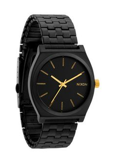 nixon the time teller matte black and gold Cool Watches, Watches For Men, Nixon Watches, Fossil Watches, Matte Black, Black Gold, Casio Watch, Michael Kors Watch, Moda Masculina