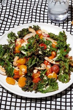 """NYT Cooking: This stylish recipe for a warm kale salad comes from Anna Jones, a British food stylist who worked for Jamie Oliver before striking out on her own. It appears in her 2015 cookbook, """"A Modern Way to Eat,"""" a collection of recipes that anyone who spends as much time as I do snooping around home kitchens can tell you is shaping up as a kind of new-era """"Silver Pal..."""