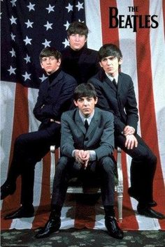 Beatles USA Poster 24 x The Beatles American Flag x Poster Music Art Print. Perfect for Framing. Great Bands, Cool Bands, Custom Posters, Vintage Posters, Usa Customs, The Three Stooges, The Fab Four, Rock Posters, Ringo Starr