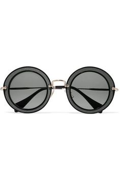 Miu Miu   Round-frame acetate, twill and gold-tone sunglasses   NET-A-PORTER.COM