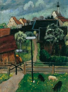 Gabriele Münter: Murnau in May (1924) via El Museo de arte Thyssen-Bornemisza