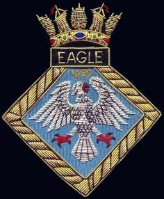 r 05 hms eagle insignia crest patch badge royal navy