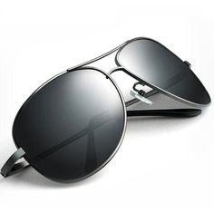 e86537536e6 Men UV400 Aviator Polarized Sunglasses Wrap Metal Frame Qwft001 Polaroid