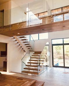 66 unique modern staircase design ideas for your dream house 9 Modern Stair Railing, Wood Staircase, Modern Stairs, Railing Design, Staircase Design, Staircases, Stair Design, Railing Ideas, Glass Stairs