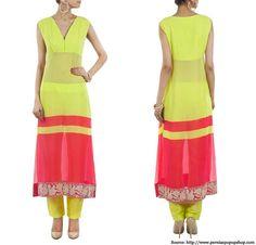 Manish Malhotra Neon Collection - Kurtas, Suits, Sarees Collection