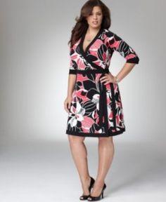 b8b89d0a309e9 Alfani Plus Size Dress Floral Knit Wrap Fashion Styles
