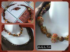Gemstone Kashmiri Necklace India Beads Howlite by JewelryByScotti