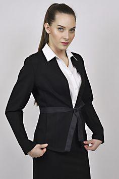 black jacket, white shirt, management, recepce, uniform, uniforms Reception, Management, Blazer, Jackets, Shirts, Women, Fashion, Down Jackets, Moda