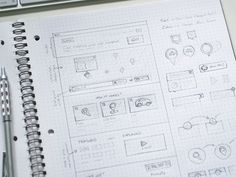 The task of prototyping a website is an extensive process of creating a basic wireframe with interactive features. While a wireframe may be static images Wireframe Mockup, Wireframe Design, Web Mockup, Ios Design, Graphic Design, Game Design, Sketch Web Design, Layout Design, Dot Grid Notebook