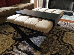 black tufted ottoman coffee table - Tufted Ottoman Coffee Table