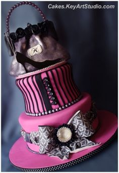Fashionista Cake; Cakes.KeyArtStudio.com