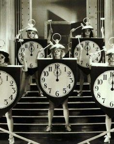 Vintage clock costumes..just love the pic