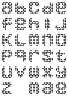 pixel art letters