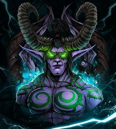 Illidan Stormrage x Thrall (Индивид) on Behance Vampires, Dota2 Funny, Illidan Stormrage, Elf Art, Night Elf, Bright Art, Gothic Fairy, Demon Hunter, Drawing Base