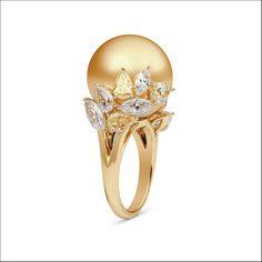 Una perla dorata di Mikimoto