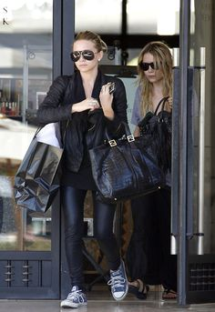 Mary Kate and Ashley : Chucks and Leather