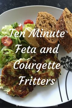 How to Make Ten Minute Feta and Courgette Fritters! Super Quick and Easy Feta and Courgette Fritters!If you are a regular me and b reader, you will know that I am typically a useless cook.