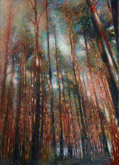 Lars Theuerkauff, Die Nacht 1 - Acryl auf Leinwand, 2015, 140 x 100 cm Galerie Thomas Fuchs