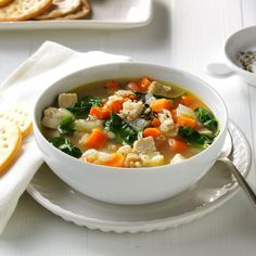 Filled with flavorful ingredients, these easy healthy soup recipes will keep you on track. Find favorites with beef, chicken and more. Quick Soup Recipes, Dash Diet Recipes, Healthy Recipes, Healthy Meals, Barley Recipes, Chili Recipes, Healthy Food, Dash Diet Meal Plan, Diet Meal Plans