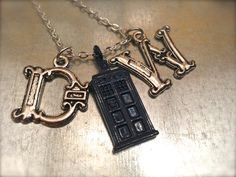DW UK Police Phone Booth Blue Charmed Interpreted Necklace