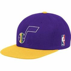 4799cf863b8 Utah Jazz Mitchell   Ness Purple Throwback Vintage Snap Back Hat - Price    23.47