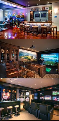 **Media room ideas** 10 Awesome Man Cave Ideas - Check out these 10 awesome man . **Media room ideas** 10 Awesome Man Cave Ideas – Check out these 10 awesome man cave ideas! Man Cave Basement, Man Cave Garage, Basement Jack, Basement Game Rooms, Garage Pub, Garage Game Rooms, Garage Shelf, Car Garage, Basement Ideas