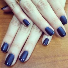 OPI Russian Navy Gel polish with matte top coat. Loving this new matte thing :)