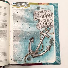 Hebrews 6:19 We have this hope as an anchor for the soul, firm and secure. My hope is built on nothing less than Jesus Christ. No matter what our hope is secure, because our hope is in the resurrection. #illustratedfaith #biblejournaling #illustratedfaithdaily2016 #shereadstruth