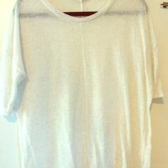 Brand new never worn oatmeal colored top Slightly sheer perfect condition, soft and has a half sleeve Tops Tees - Long Sleeve
