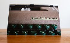 The Smith & Corona Silent Typewriter Notecard Vintage Typewriters, Will Smith, Note Cards, Product Launch, Number, Models, How To Make, Crown, Role Models