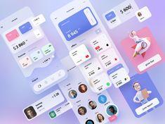 Mobile Banking by Sèrgi Mi for Fireart Studio on Dribbble Web Design, App Ui Design, Mobile App Design, Mobile Ui, Android Design, Branding Design, Website Design Inspiration, Ui Inspiration, Finance