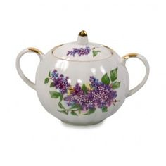 Sugar Bowl from the Lilac Tea Set - Russian Porcelain