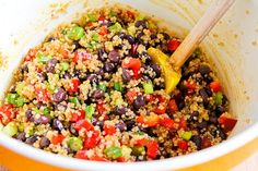 Kalyn's Kitchen: Recipe for Southwestern Quinoa Salad with Black Beans, Red Bell Pepper, and Cilantro