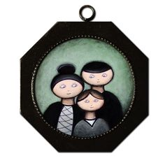 Acrylic painting 'Family'
