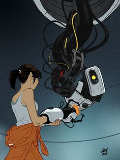 Chell and GLaDOS, by Cameron Stewart, 2012