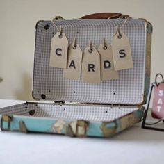 rustic alphabet stickers cards bunting on suitcases