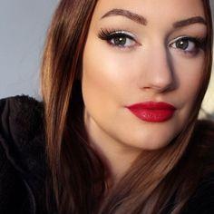 """16 gilla-markeringar, 2 kommentarer - M A N D A B J E (@mandabje) på Instagram: """"Using: Lipstick: Isadora, 05 femme fatale! 💄 Lashes: Ardell, glamour! Eyebrows: Maybelline, Brow…"""""""