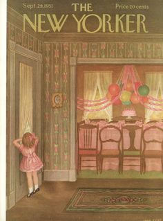The New Yorker - Saturday, September 29, 1951 - Issue # 1389 - Vol. 27 - N° 33 - Cover by : Edna Eicke