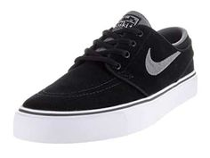 Nike Kids Stefan Janoski (GS) Skate Shoe: Vulcanized construction for flexibility Herringbone tread sole for grip