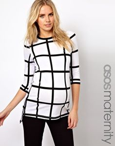 Enlarge ASOS Maternity T-Shirt In Check