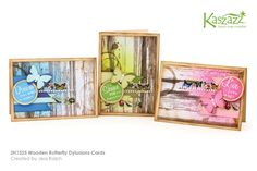 2H1525 WoodenButterflyDylusionsCards